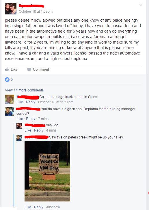 Facebook Job Hunter Spelling Errors